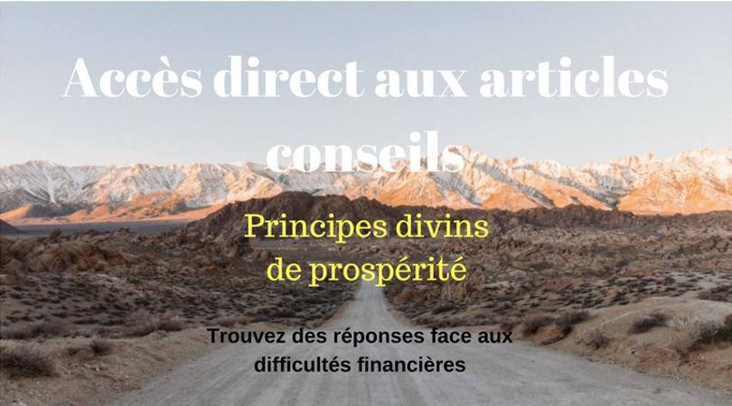 Principes Divins de Prospérité pour sortir des difficultés financières