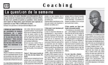 Coach AMON pigiste pour Entreprendre en Côte d'Ivoire 2013-2014