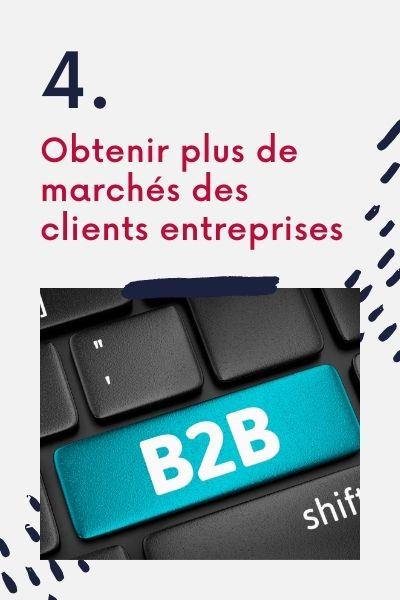 La vente BtoB obtenir plus de marchés des clients entreprises